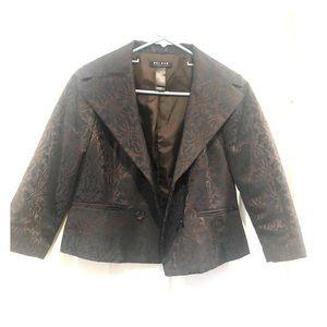 Dark Brown and Royal Blue crop jacket